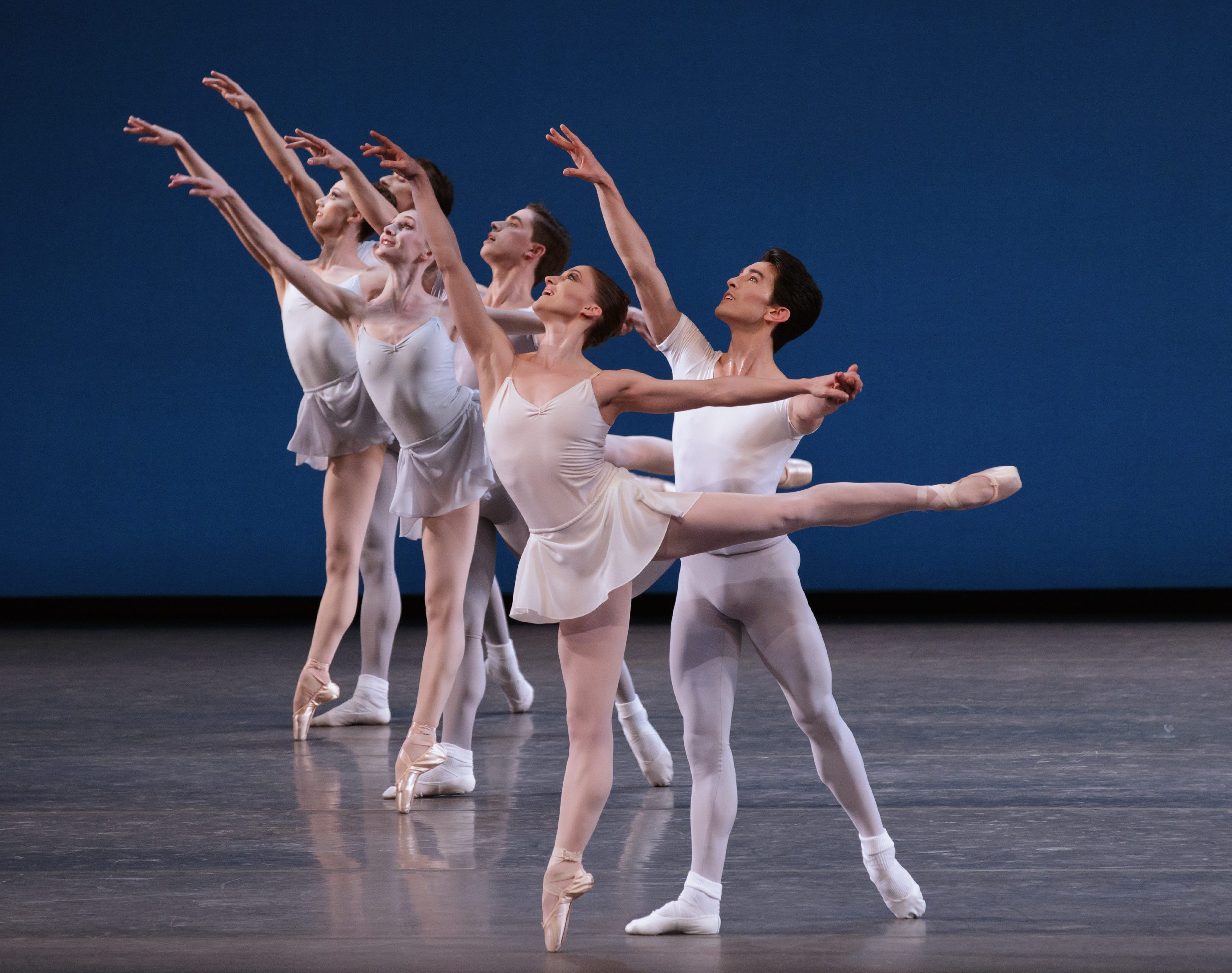 Ashley Bouder, Anthony Huxley, Ensemble in Square Dance by George Balanchine