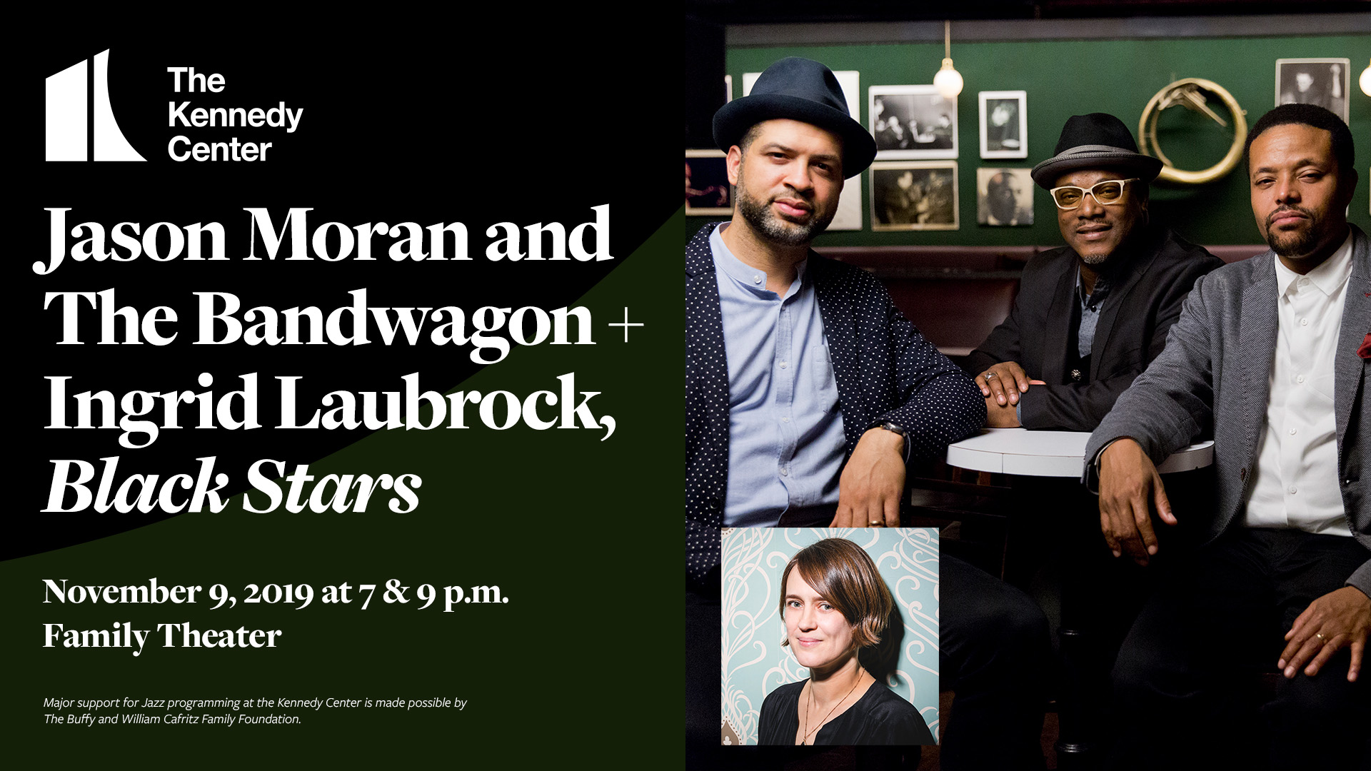 Jason Moran and The Bandwagon + Ingrid Laubrock | November 9, 2019