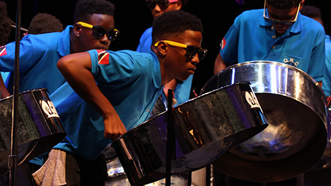 Positive Vibrations Youth Steel Orchestra and Queen's Royal College Steelpan Ensemble