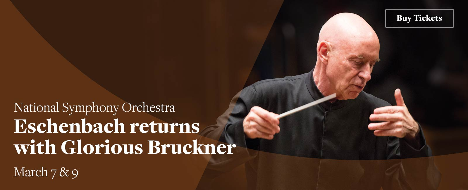National Symphony Orchestra: Eschenbach returns with Glorious Bruckner