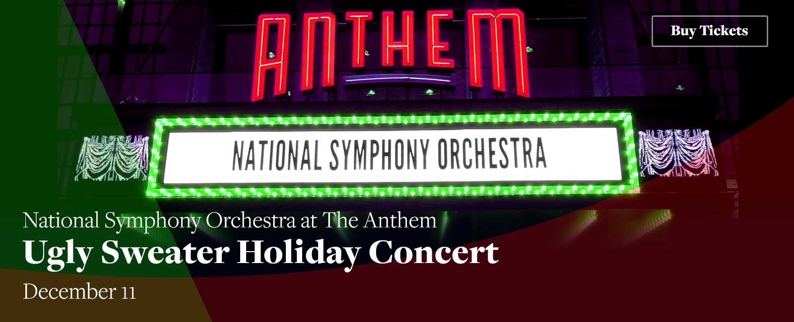 NSO at The Anthem Ugly Sweater Holiday Concert