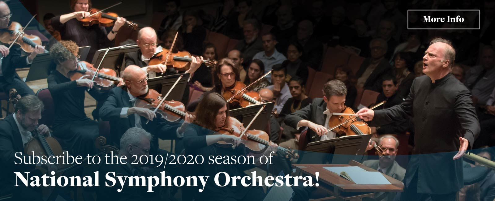 Subscribe to the 2019/2020 season of National Symphony Orchestra