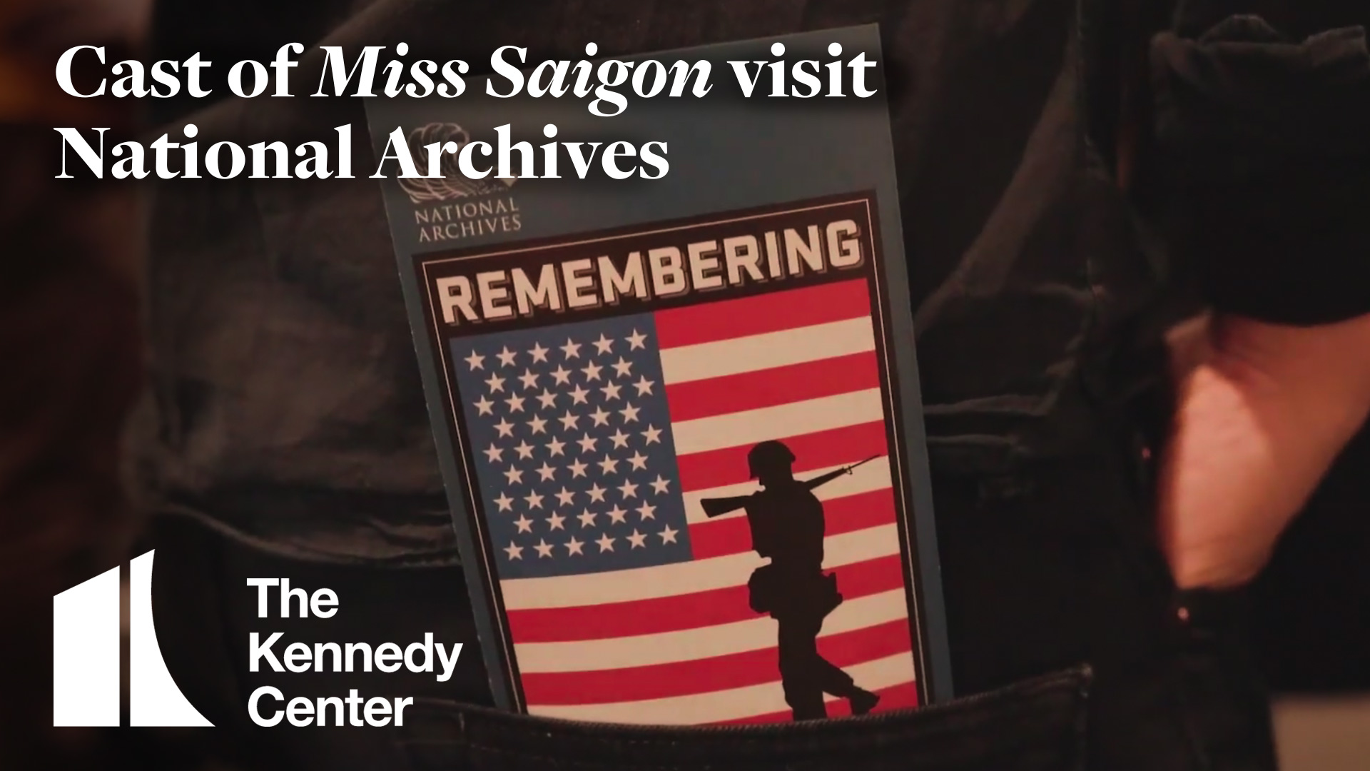 Cast of Miss Saigon Visit National Archives