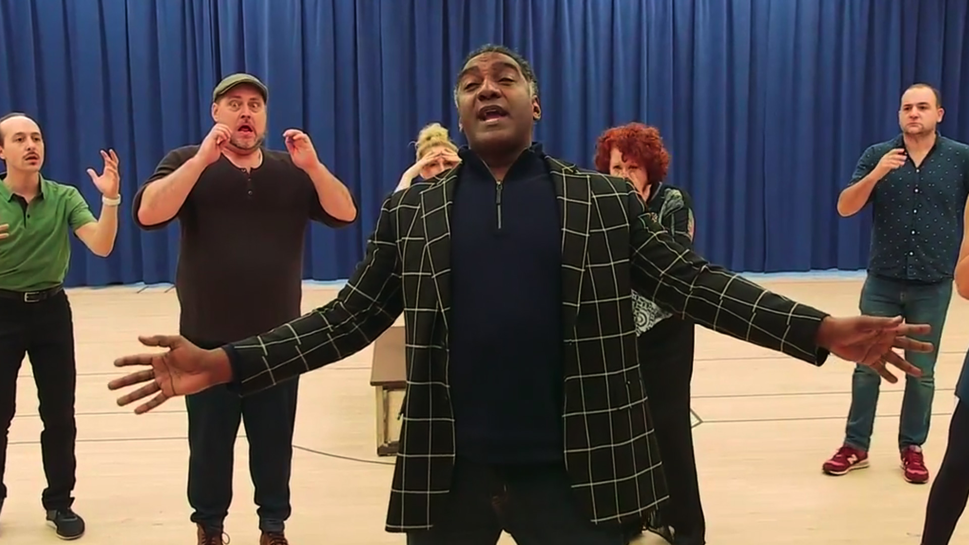 A Look-In at Norm Lewis and Jessie Mueller In Rehearsal for