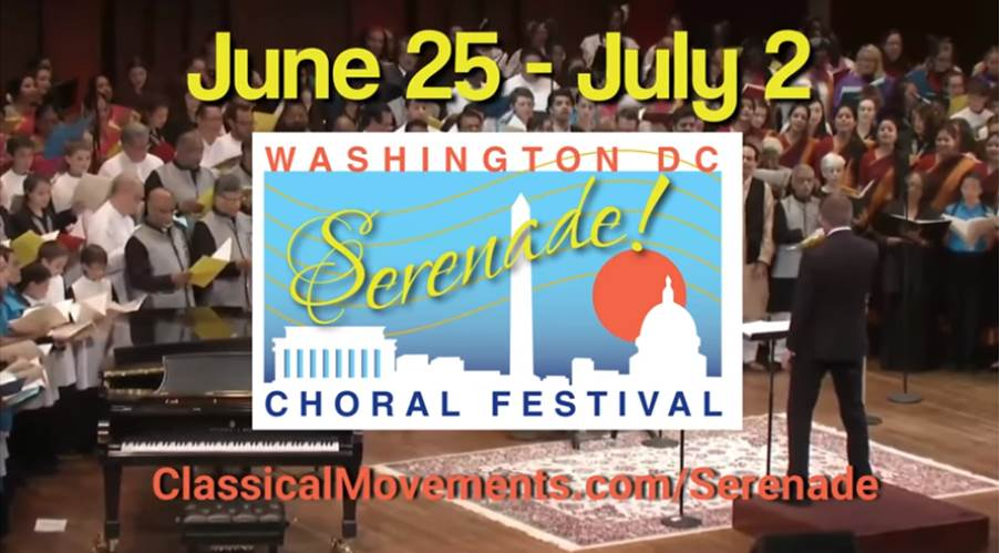 Classical Movements presents 8th Annual Serenade! Choral Festival at The Kennedy Center