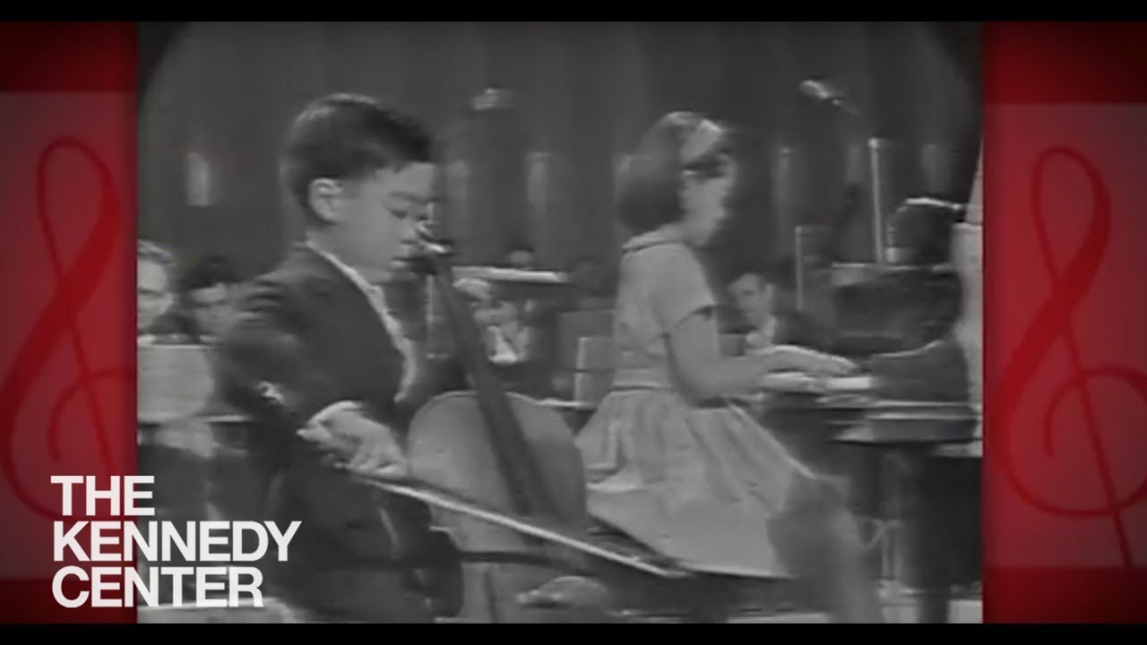 Leonard Bernstein introduces 7-year-old Yo-Yo Ma at the American Pageant for the Arts