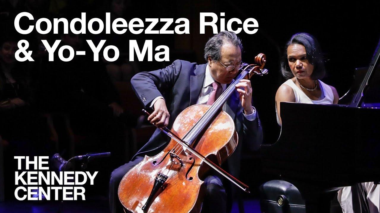 Yo-Yo Ma and Condoleezza Rice perform Schumann's