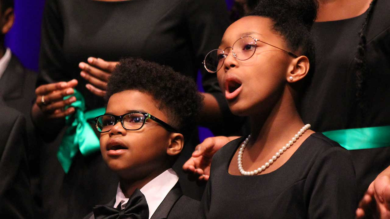 The Washington Performing Arts Children of the Gospel Choir